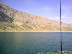 My fishing rod still waiting more fish, but no fog and it is getting warm