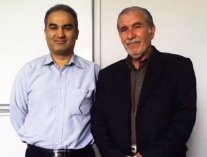 Professor Dr. Zohoor and me May 2013.